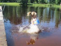 En som badar iallafall