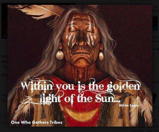 Golden light from the Sun